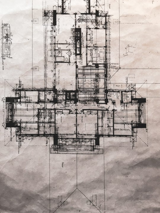 Frank Lloyd Wright Architect Drawing