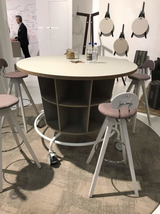Stockholm Furniture Fair Mobile Bar Height Table