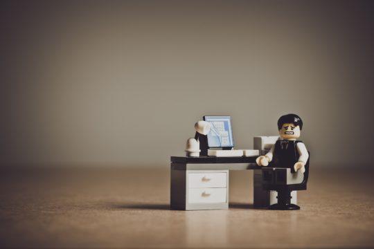 An employee in despair