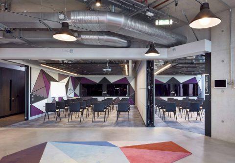 Gensler Adobe Work Space White Collar Factory, London, 2017. Photography by Mark Cocksedge