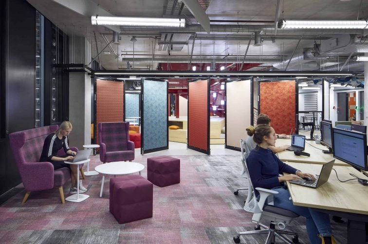 Gensler Adobe Work Space White Collar Factory, London, 2017. Photography by Mark Cocksedge
