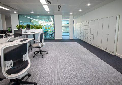 Interserve Birmingham Office Desking